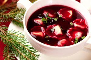 Barszcz z uszkami. Polish christmas soup